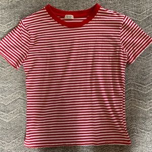 Brandy Melville Red Striped Top